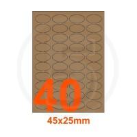 Etichette autoadesive 45x25mm, in carta Kraft mille righe