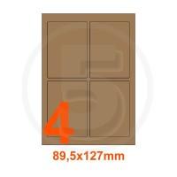 Etichette autoadesive 89,5x127mm, in carta Kraft mille righe